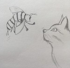 Liesels Begegnung mit einer Katze