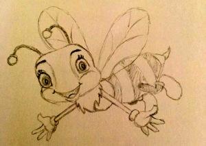 Liesel - gezeichnet von Antonia (16 Jahre)